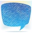 Hand draw speech bubble  EPS8 vector image vector image