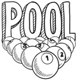 Pool vector image