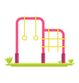 different attractions on playground vector image