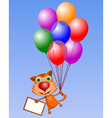 Cat with blank sign vector image vector image