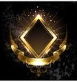 Gold Banner Rhombus vector image vector image