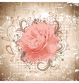 Vintage Abstract Peony Flower vector image