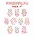 Marshmallow cartoon set vector image vector image