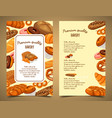 banner with bakery food or pastry banner vector image