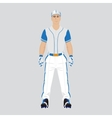 Baseball player uniform vector image