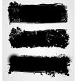 black grunge vector image