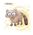 Drawn Cartoon Raccoon vector image