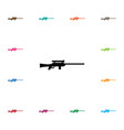 isolated sniper icon sharpshooter element vector image