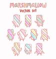 Marshmallow cartoon set vector image