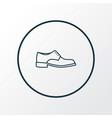 men footwear icon line symbol premium quality vector image