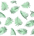 Tropical palm leaves pattern vector image