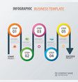 Road business timeline infographic template vector image vector image