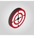 The target icon Aim darts symbol3D isometric vector image