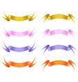 Silk ribbon set vector image