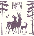 deer family vector image vector image