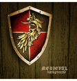 medieval background vector image