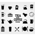 Set of Black Coffee and Tea Icons vector image