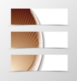 Set of banner grid design vector image