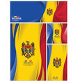 abstract moldova flag background vector image