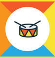 drum colorful outline symbol premium quality vector image