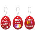 Easter special tags in the form of egg vector image