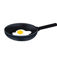 Egg on pan vector image