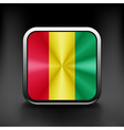 Guinea icon flag national travel icon country vector image