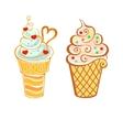 Ice cream in cartoon style vector image