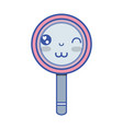 kawaii cute funny magnifying glass vector image