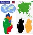 Qatar map vector image