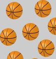 Seamless basketball pattern vector image