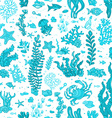 Seamless blue summer underwater pattern vector image
