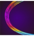 Abstract background with 3D pink and blue lines vector image