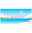 Idyllic Beach with jetty vector image