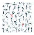 active people set sketch for your design vector image vector image