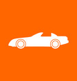 car white icon vector image