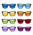 Sun glases set vector image