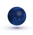 Globe asian view with reflection vector image