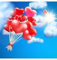 Heart-shaped baloon in the sky EPS 10 vector image
