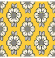 Floral pattern in yellow and gray vector image