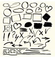 Hand drawn abstract elements vector image vector image