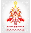 Abstract Christmas tree vector image