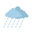 cloud rain storm icon flat style vector image