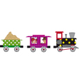 Little train vector image