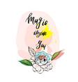 magic inside youinspirational modern ink brush vector image