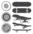 Skateboard set vector image