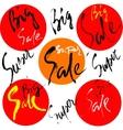 Super sale set Drawn lettering sale vector image
