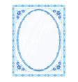 Mirror frame faience vector image
