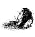 sleep girl vector image