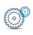 Cogs - Gears Outline Technology Icons Isolated on vector image
